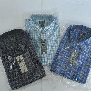 jos. A. Bank Plaid dress shirts size xl